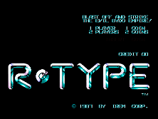 Title Screen:  R-Type (World)